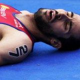 Triathletes feel no pain… until race end