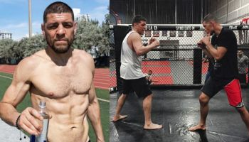 Nick Diaz training with Nate Diaz
