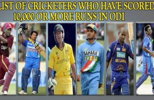 List of cricketers who have scored 10000