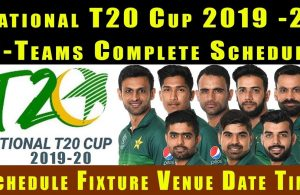 Pakistan National T20 Cup 2019 Schedule, Teams & Points Table