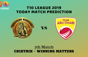 T10 League 17th November 2019 Matches, Preview, Analyis & Predictions