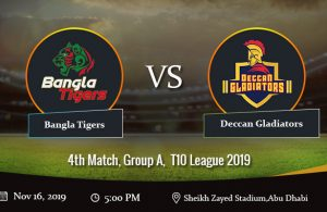 T10 League 16th November 2019 Matches, Preview, Analyis & Predictions