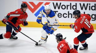 Sabers' Taylor Hall out of squad, trade expired against Devils