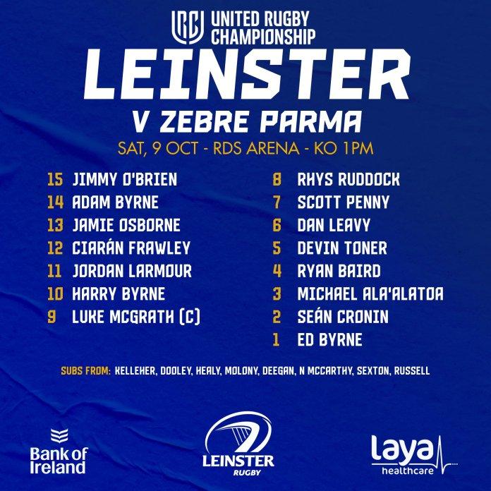 Leinster v Zebra October 2021