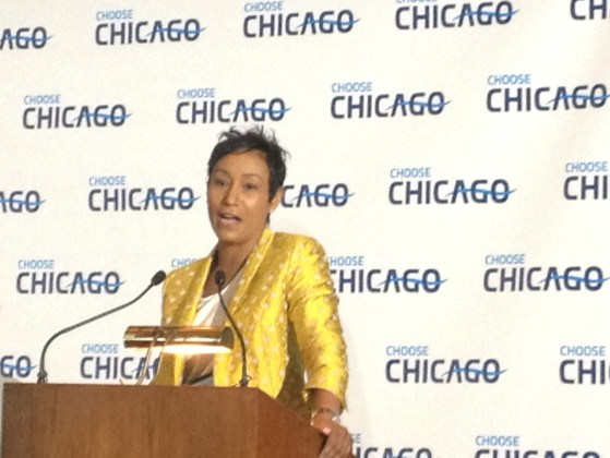 Former White House Social Secretary and current Choose Chicago Board Chairman Desiree Rogers