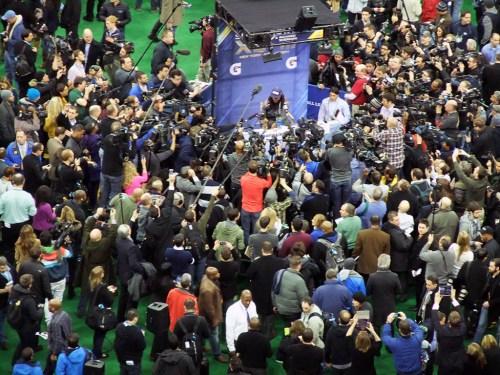 Richard Sherman and the media.