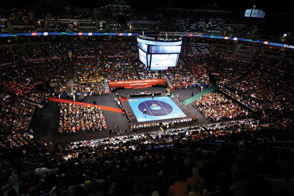 Oklahoma City's Chesapeake Energy Arena hosted the 2014 NCAA Division I Wrestling Championships in March and will host the NCAA's volleyball championship this month.
