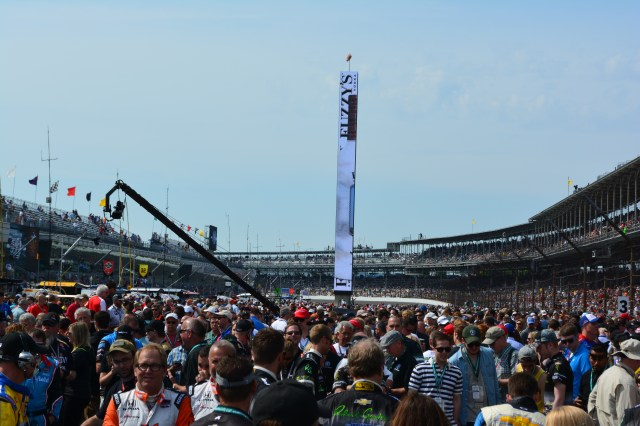 Fans at the pre-race event can get right on the track at the Indianapolis Motor Speedway before the race.