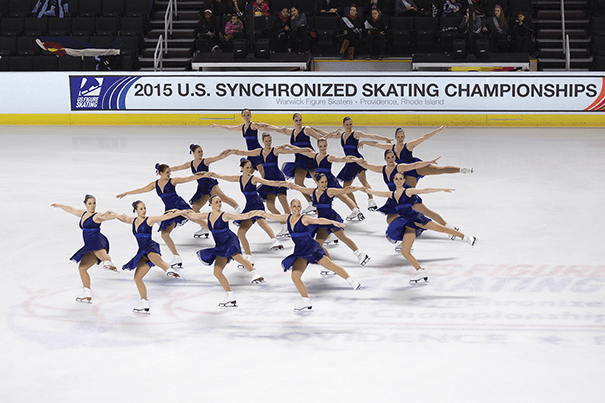 The 2015 U.S. Synchronized Skating Championships were staged at the Dunkin' Donuts Center, which is connected to the Rhode Island Convention Center in Providence. Photo Courtesy of Rhode Island Sports Commission.