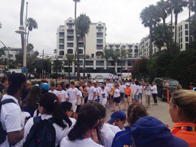 Delegations arrival
