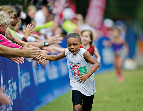 Alpharetta, Georgia, has become a popular destination for events, including the IronKids Triathlon, which is held annually in September and attracts about 1,100 participants. Photo courtesy of Awesome Alpharetta