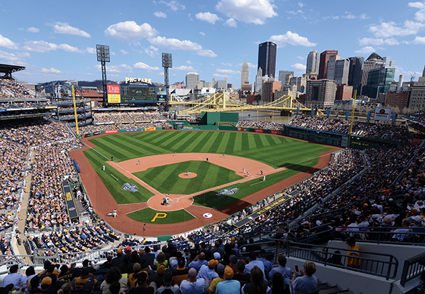 The Pittsburgh Pirates will host the first game of the 2016 Major League Baseball season with an April 3 game against the St. Louis Cardinals. Photo by Mark Cunningham/Getty Images