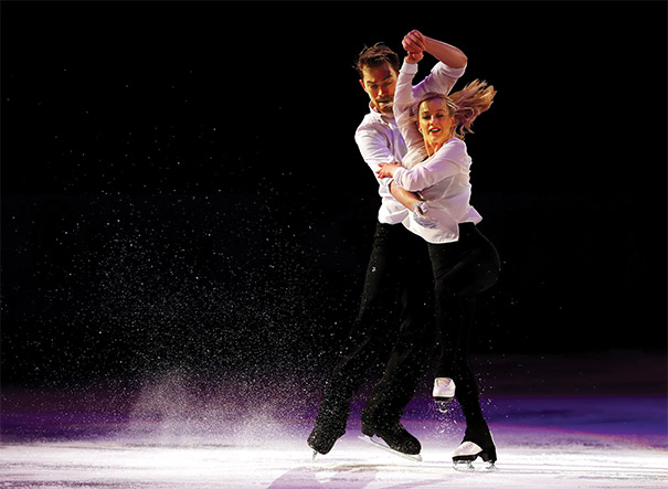 Penny Coomes and Nicholas Buckland of Team Europe performed at the KOSÉ Team Challenge Cup, a three-day figure skating event held in Spokane, Washington, in April. Photo courtesy of Jamie Squire/Getty Images