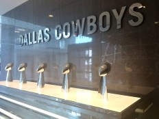 A display of all five Super Bowl trophies can be found at The Star, the Dallas Cowboys' world corporate headquarters.