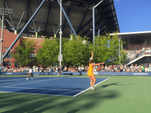 Early-round action on outer courts allows fans close access to the action.