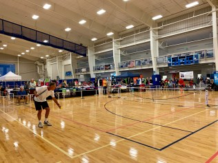 The inaugural USA Pickleball Mid-Atlantic Regional was held at the 100,000-square-foot Myrtle Beach Sports Center, which was able to accommodate 27 pickleball courts.