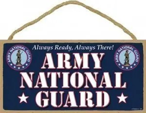 Army National Guard Sign