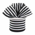 Black and White Pinstripe Ribbon