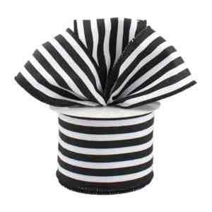 Black and White Pinstripe Ribbon