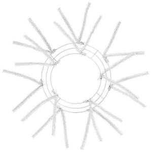 White Wire Wreath Frame