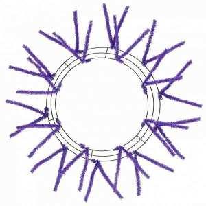 Purple Wire Wreath Form