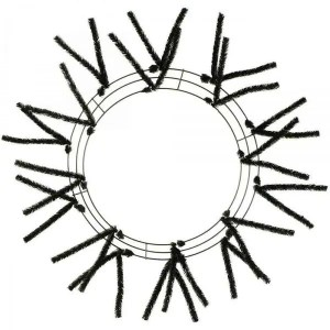 Black Wire Wreath Form