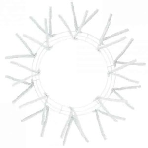 White Wire Wreath Form