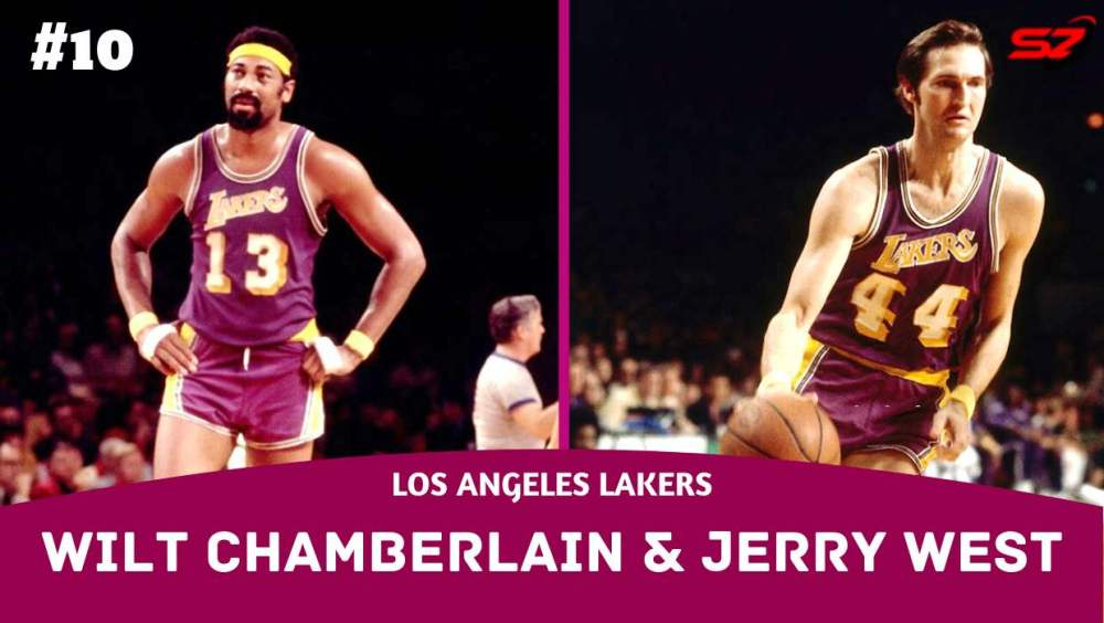 best basketball duo Wilt Chamberlain and Jerry West