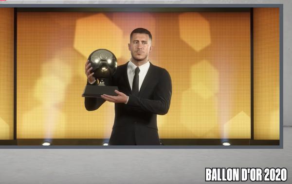 Les 14 prochains Ballon d'or selon  FIFA 20 : Eden Hazard en 2020