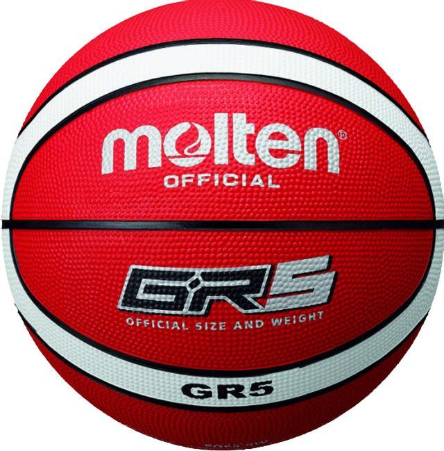 Molten BGR5-RW - Pallone da Pallacanestro, 5, Colore: Rosso/Bianco Image