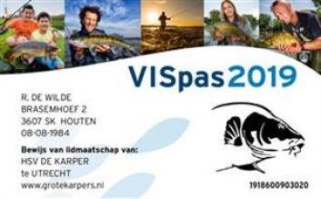 Sportvisserij Nederland - VISpas 2019 komt eraan!