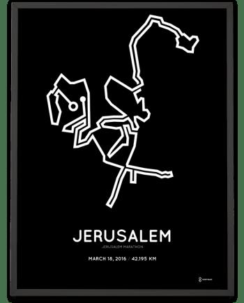 2016 Jerusalem marathon Poster