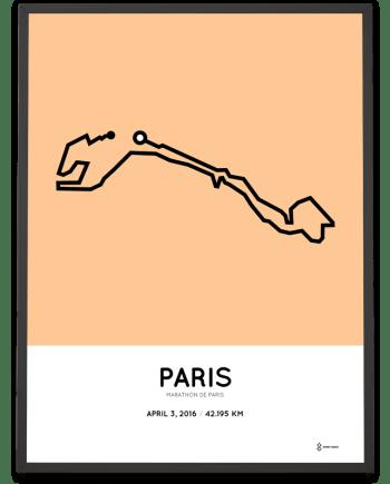 2016 Marathon de Paris print