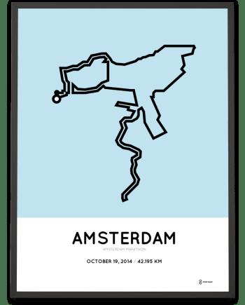 2014 Amsterdam marathon poster
