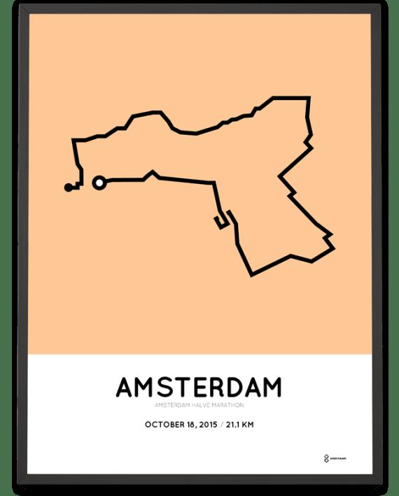 2015 Amsterdam half marathon print