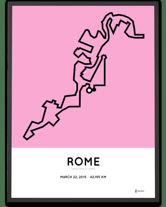 2015 Rome marathon print