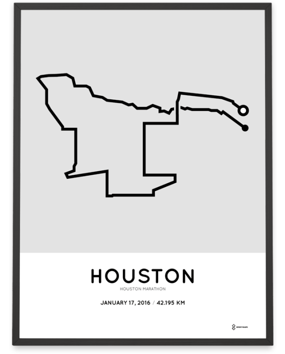 2016 Houston marathon print