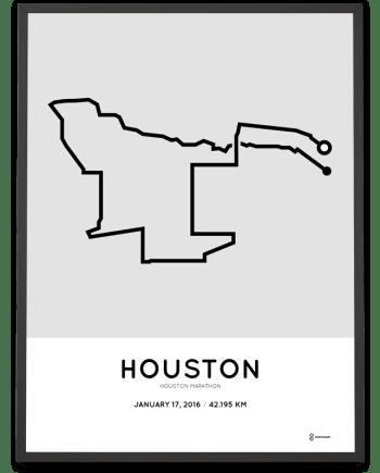 2016 Houston marathon print