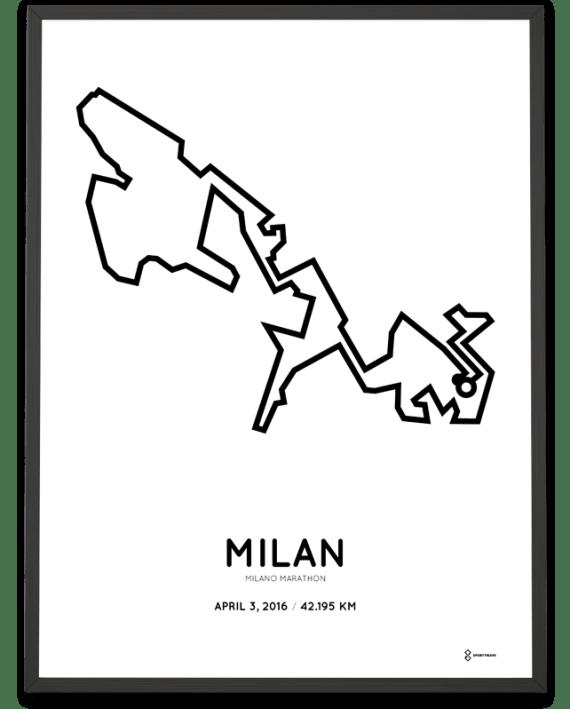 2016 Milano marathon poster