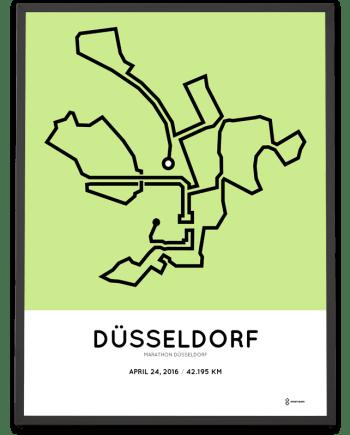 2016 Dusseldorf Marathon print