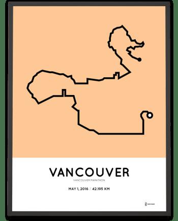 2016 Vancouver marathon course poster