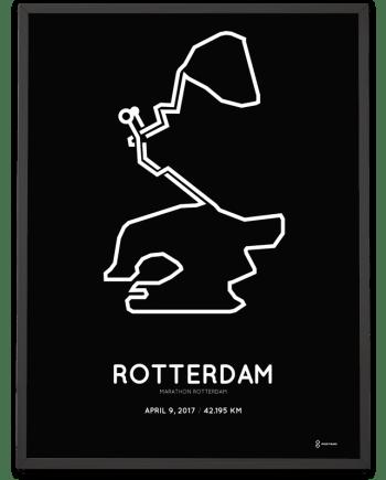 2017 marathon Rotterdam route poster