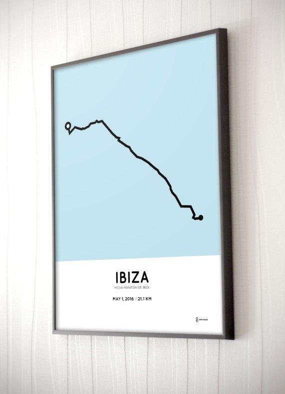 Ibiza half marathon 2016 poster