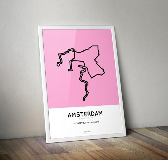 Amsterdam Marathon 2015 poster