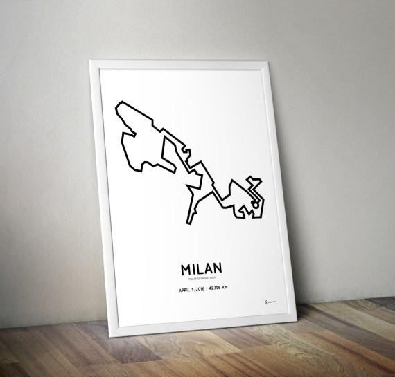 2016 Milan marathon print
