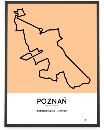 2015 Poznan marathon course print