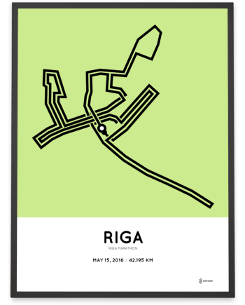 2016 Riga marathon course map