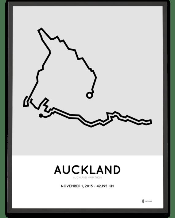 2015 Auckland marathon course print
