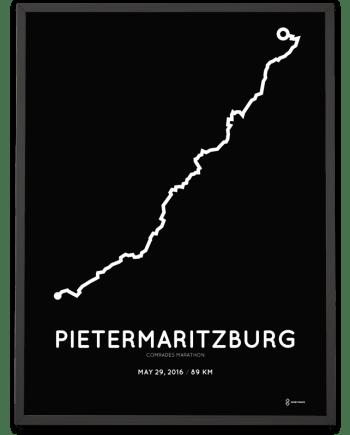 2016 Comrades marathon course print