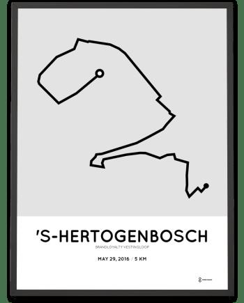 2016 Vestingsloop 5km course poster